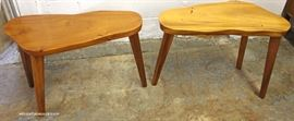 Set of 3 Slab Wood Country Tables  Located Inside – Auction Estimate $200-$400