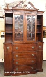 One of Several Mahogany China Cabinets this one has Bookcase Ends  Located Inside – Auction Estimate $100-$300