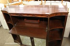 Mahogany Mirror Etched Front Credenza  Located Inside – Auction Estimate $100-$300