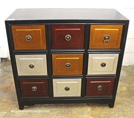 "Contemporary Demilune Marble Top Decorator Bachelor Chest by ""Thomasville Furniture""  Located Inside – Auction Estimate $200-$400"