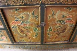 Asian Paint Decorated Chest  Located Inside – Auction Estimate $100-$300