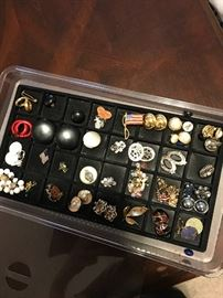 Pins and earrings to go around