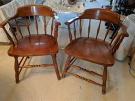 Maple captain's chairs go with maple table