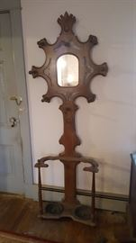 hall Tree umbrella stand with mirror