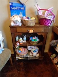 small bookcase/cabinet, we have lots of easter - its coming!!