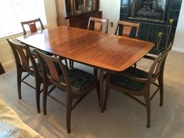 Mid Century Modern Dining table and chairs MCM