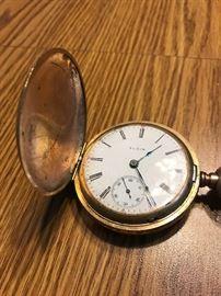 Elgin Victorian 14k gold pocket watch