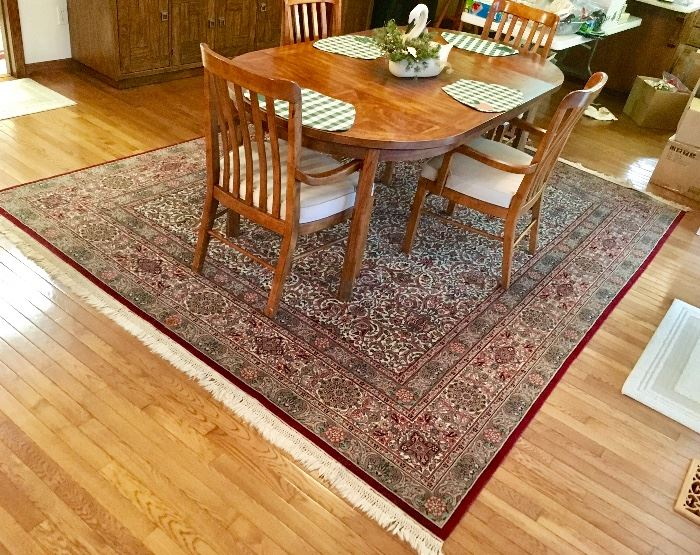 ONE OF SEVERAL VERY NICE QUALITY WOOL & SILK RUGS