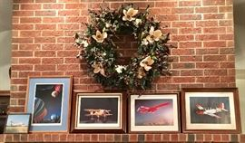SEVERAL AVIATOR AIRPLANE & JET FRAMED & SIGNED PHOTOS