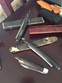 various antique razors