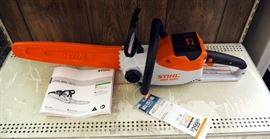 Stihl MSA120C-BQ Battery Operated Chainsaw, Includes Owners Manual, Battery And Charger, New