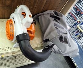 Stihl SH56C-E Hand Held Shredder Vac/Blower, Gas Powered, Includes Collection Bag, Nozzles, Owners Manual, New