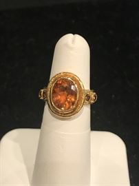 Tourmaline and 18kt gold ring