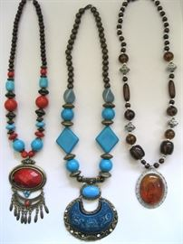 Stone and Beaded Boho Necklaces