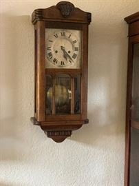 Antique English wall clock purchased in England early 1900's