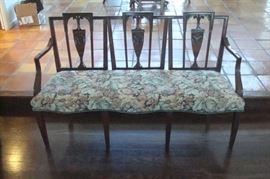 Antique Hepplewhite style settee.