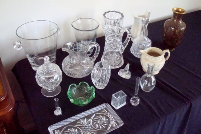 Collectibles including brilliant cut glass,