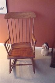Early American rocking chair.