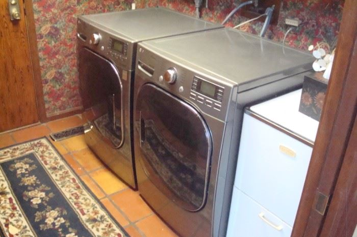 L. G. front load washer & dryer.