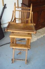 Antique high chair.