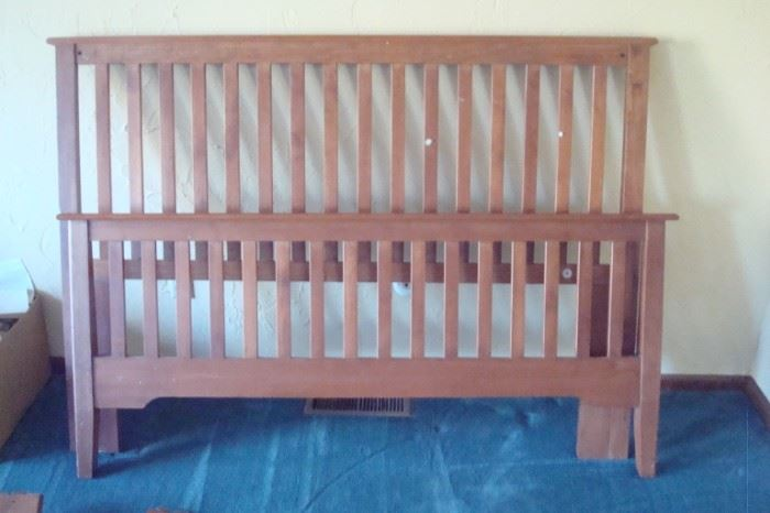 Queen Stickley style bed.