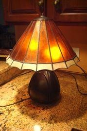 Quartz shade  table lamp