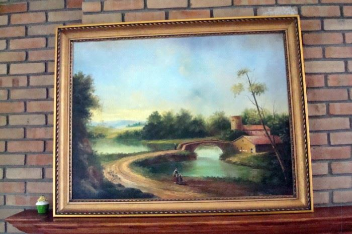 Large original oil by Danatello.