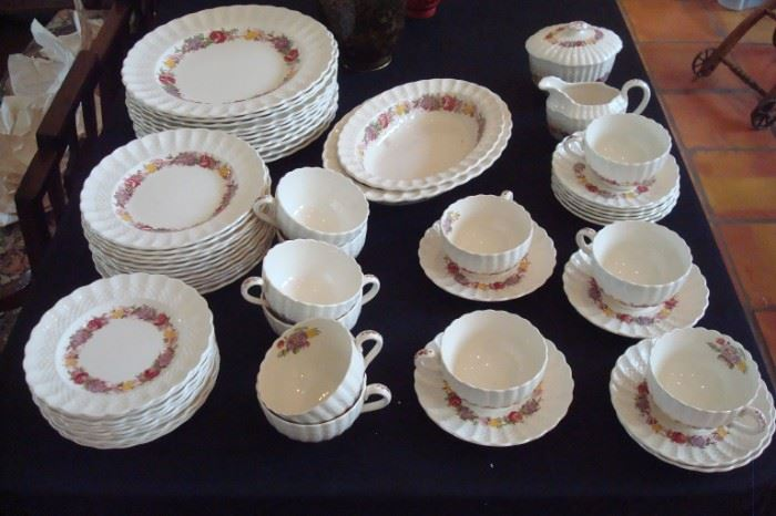 Copeland Spode China, Rose Brier Pattern.