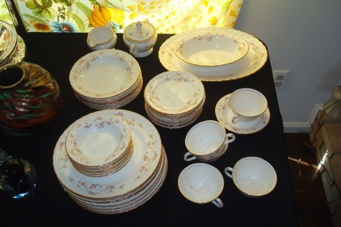 Pope Gosser china set.  Florence pattern. This set has been packed away since 1962.