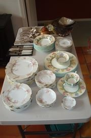 Limoges, Wedgewood china and other items.