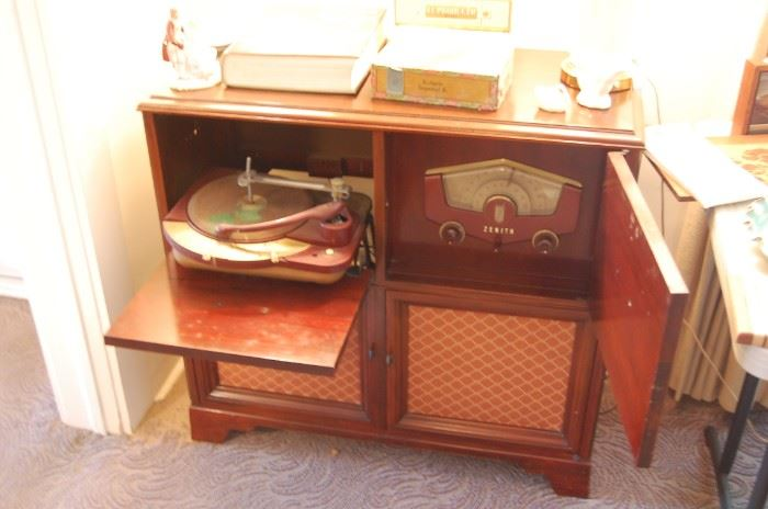 vintage console radio-record player