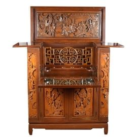Asian Carved furniture-stock photo