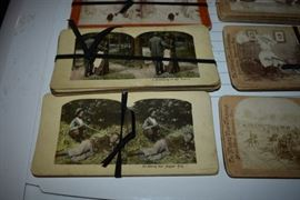 Antique Stereoviewer Cards including Battle of Gettysburg/ Black Americana/More