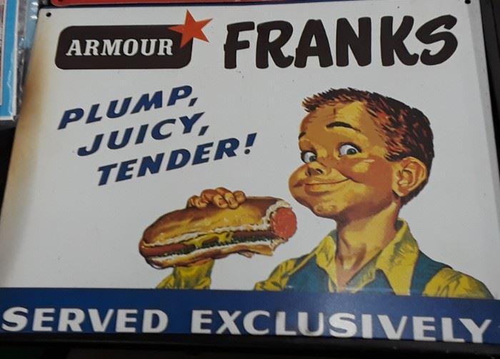 Armour  FRANK'S Sign