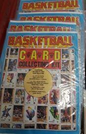 Basketball card collecting kit