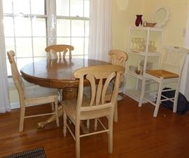 dining table & 4 chairs, bar stool