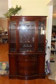 very nice vintage china cabinet
