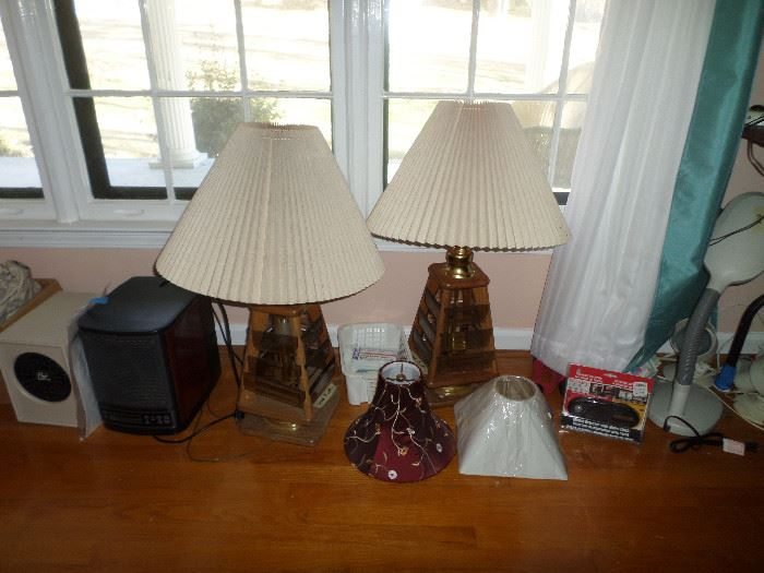 pair of neat vintage lamps