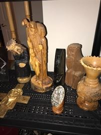 LITHUANIAN WOODEN HAND CARVED SCULPTURES