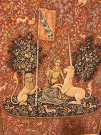 LADY AND THE UNICORN BELGIAN TAPESTRY