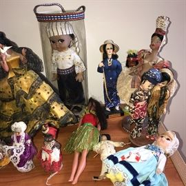 COLLECTION OF DOLLS FROM ALL OVER THE WORLD