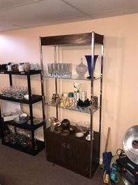 GLASSWARE / CRYSTAL AND VASES