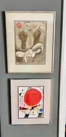 Chagall and Miro Prints