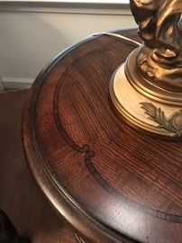 "thomasville round end table 25"" round"