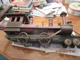WOOD AND IRON ANTIQUE TRAIN HANDMADE