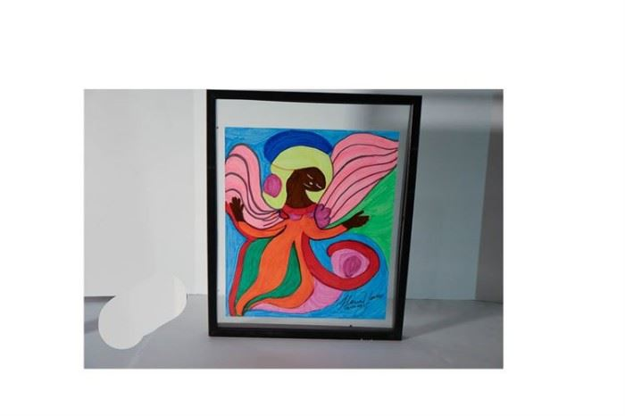 Floria Yancey Framed Marker Drawing On Paper Lot#RW115