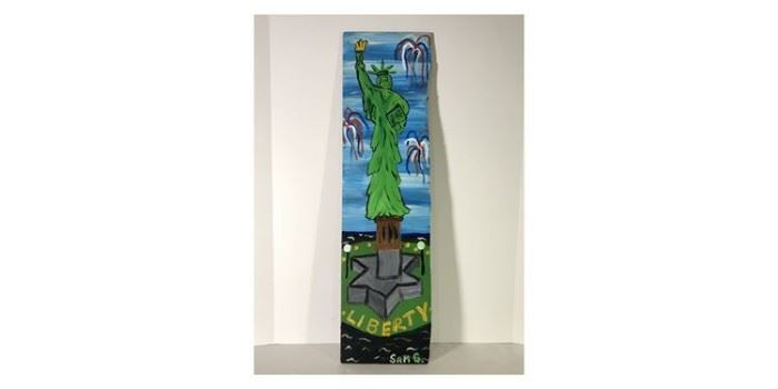 "Sam Granger Acrylic On Board ""Liberty Stands Tall"" - Lot#RW129"
