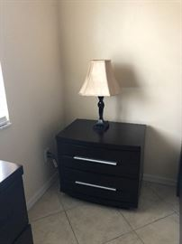 MATCHING NIGHTSTAND WITH LAMP