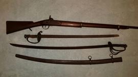 Cook & Bros. Confederate rifle, Confederate swords