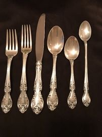 """Gorham """"Melrose"""" sterling flatware"""